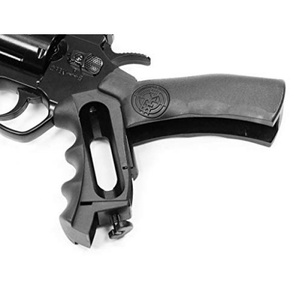 SRC Airsoft Pistol 3 SRC 2.5 INCH Barrel Titan CO2 Gas Airsoft GBB Cowboy Metal Revolver (Black)