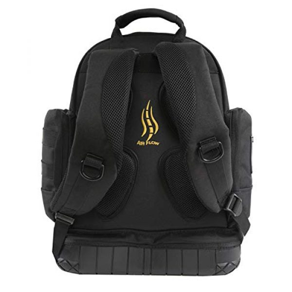 HIGHLAND TACTICAL Tactical Backpack 3 Highland Tactical Men's Task Tool Backpack with Molle Webbing, Black, One Size