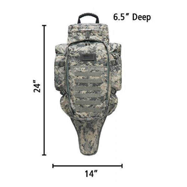 East West U.S.A Tactical Backpack 2 East West U.S.A RT538/RTC538 Tactical Molle Military Assault Rucksacks Backpack, ACU