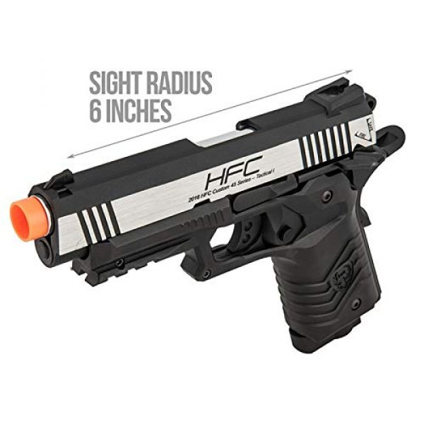 HFC Airsoft Pistol 4 HFC HG-171 Tactical 1911 CO2 Blowback Airsoft Pistol Black Silver