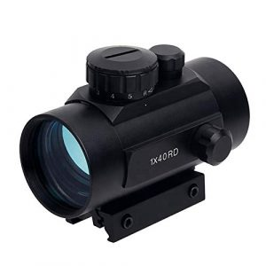 UELEGANS Rifle Scope 1 UELEGANS Red Dot Sight Red & Green 5 Brightness Settings with 11mm/20mm Weaver/Picatinny Rail Mount and Protector Covers Rifle Scope for Hunting