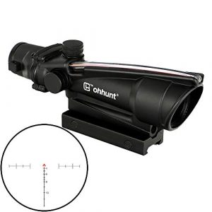 ohhunt Rifle Scope 1 ohhunt 5X35 Real Fiber Scope Red or Green Reticle Tactical Optical Sights