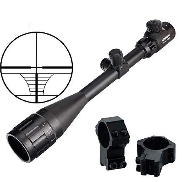 ohhunt Rifle Scope 2 ohhunt 6-24x50 AOEG Hunting Riflescopes 1 inch Tube Red Green Illuminated Optical Sight