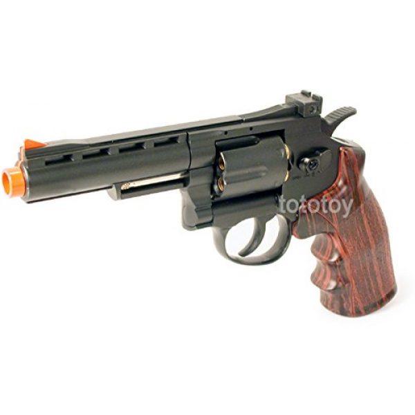 "Boomingisland Airsoft Pistol 2 Boomingisland Wingun 701 4"" Airsoft CO2 Revolver Black"