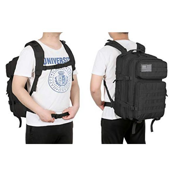 QT&QY Tactical Backpack 7 QT&QY 45L Military Tactical Backpacks Molle Army Assault Pack 3 Day Bug Out Bag Hiking Treeking Rucksack