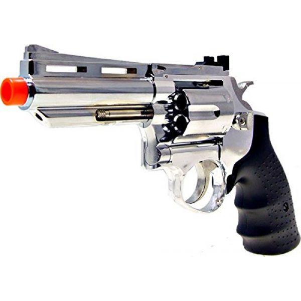 HFC Airsoft Pistol 5 HFC model-132 4 revolver a2 silver by hfc(Airsoft Gun)