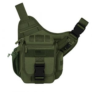 East West U.S.A Tactical Backpack 1 East West U.S.A RT511 Tactical Shoulder Sling Trail Pack with bottle holder