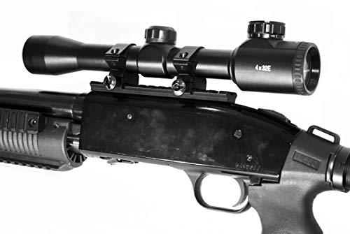 TRINITY Rifle Scope 2 TRINITY SUPPLY Mossberg 500/590/835 Picatinny Weaver Scope Base Rail Mount with Reflex Sight Base Mount Rail Adapter Aluminum Black Hunting Optics Tactical Home Defense Accessory.