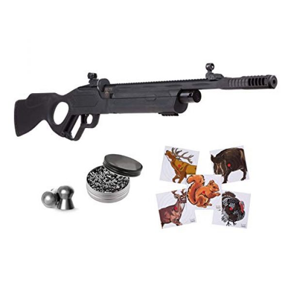 Hatsan Air Rifle 1 Hatsan Vectis Air Rifle with Pack of Pellets and 100x Paper Targets Bundle (Black Syn Stock) (.177 Cal + Ammo)