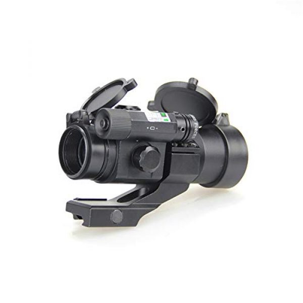 DJym Rifle Scope 7 DJym Blue Film Inside Red Dot Sight, High-Definition Red Dot Fast Sight Waterproofing Anti-Fog Seismic Gift-Level Sight