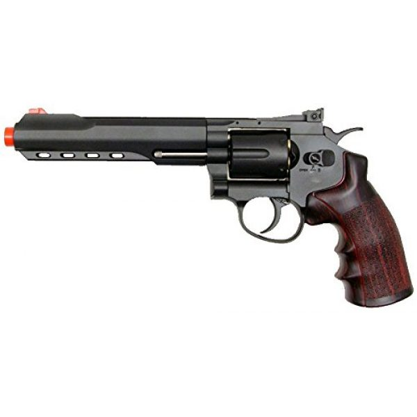 "Boomingisland Airsoft Pistol 1 Boomingisland Wingun 702 6"" Airsoft CO2 Revolver Black"