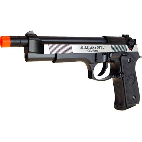 WE Airsoft Pistol 3 WE m92 long-a gas/co2 blowback full metal - black(Airsoft Gun)