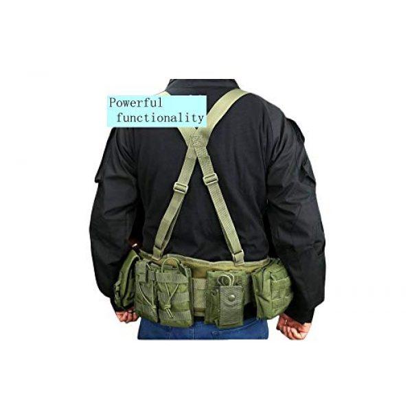 JFFCE Tactical Belt 5 JFFCE Tactical MOLLE Battle Belt Waist Belt with X-Shaped Suspenders Adjustable Combat Duty Belt Removable Harness