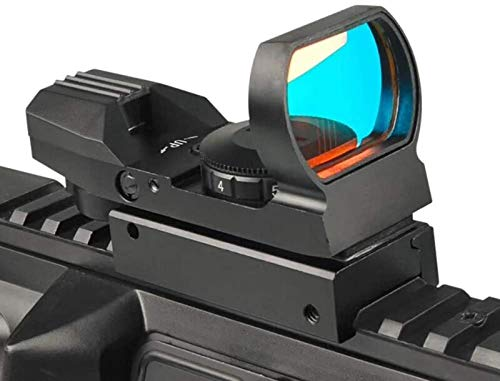 TTHU Rifle Scope 3 TTHU Rifle Scope Red Dot Sight 4 Reticles Gun Sight 4 Reticles Green and Red Air Scope Reflex Sight for Telescope Hunting Paintball
