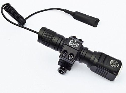 Acid Tactical Flashlight 6 Acid Tactical Compact LED Rifle Shotgun Flashlight 800 Lumens with Picatinny Mount, Battery, Pressure Switch kit