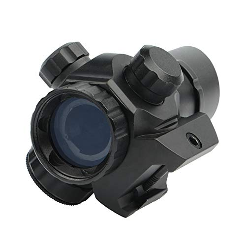 UELEGANS Rifle Scope 5 UELEGANS Tactical red dot Sight Scope 1X22 Adjustable Reflex Red/Green dot Holographic Sight for 20mm Rail
