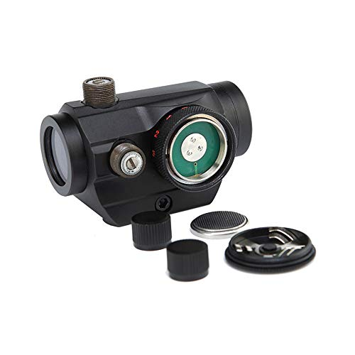 DJym Rifle Scope 4 DJym Blue Film 1X Sight, High-Definition Red Dot Sight, Shockproof and Anti-Fog, Waterproof Fast Sight