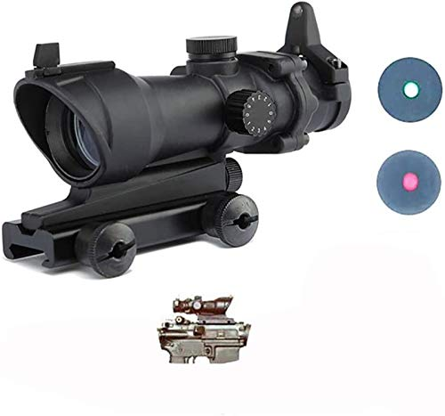 TTHU Rifle Scope 4 TTHU Rifle Scope Red Green Dot Sight Without Markings with 20MM Rail for Airsoft Game Rifle Scope for Hunting