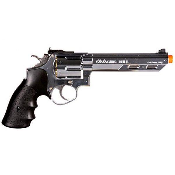 HFC Airsoft Pistol 2 HFC hg-133 6 barrel gas revolver, silver airsoft gun(Airsoft Gun)