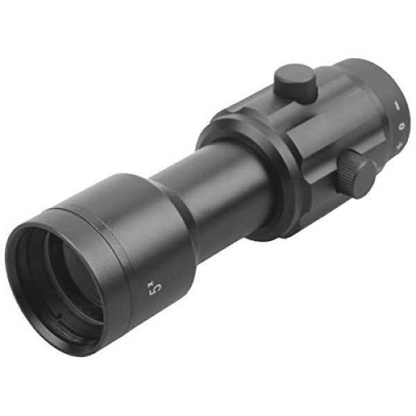 Vector Optics Rifle Scope 2 Vector Optics 3X, 4X, 5X Tactical Maginifier with Flip-to-Side Detach Quick Release QD Picatinny Mount and Flip-up Scope Lens Cover for Red Dot Reflex Sight (Matte Black) (3X) (5X)