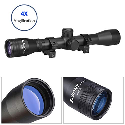 SVBONY Rifle Scope 7 SVBONY SV175 Rifle Scope,4x32,Hunting rifle scope,Ample eye relief,Cross differentiation Reticle,With 20mm Free Mounts