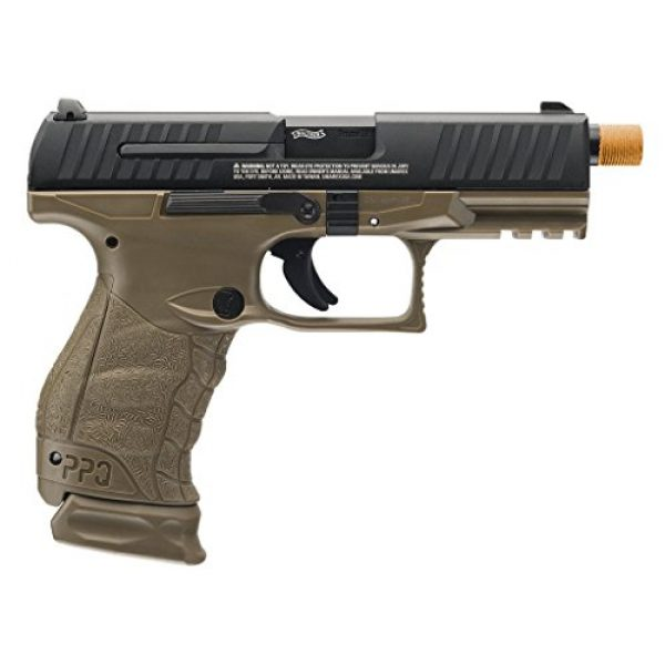 Elite Force Airsoft Pistol 2 Walther PPQ Gas Blowback Airsoft (Dark Earth Black)