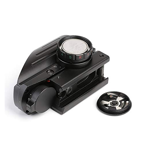 Without Rifle Scope 3 Toy Gun Sight Red dot Sight Magnification Mirror red Green dot Sight Reflection 4 Hunting Accessories Shooting 20 mm Railway Collimator Holographic Sight (Color : Black)