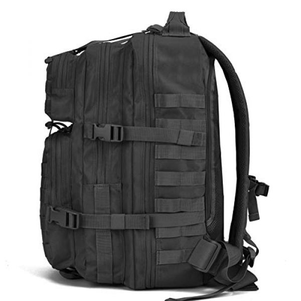 REEBOW GEAR Tactical Backpack 4 REEBOW GEAR Military Tactical Backpack Large Army 3 Day Assault Pack Molle Bug Bag Backpacks Rucksacks for Outdoor Sport Hiking Camping Hunting 40L Black