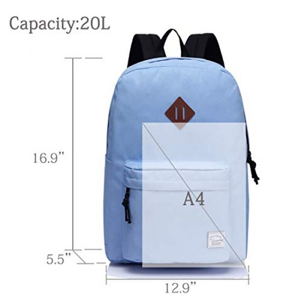VASCHY Tactical Backpack 3 Lightweight Backpack for School, VASCHY Classic Basic Water Resistant Casual Daypack for Travel with Bottle Side Pockets