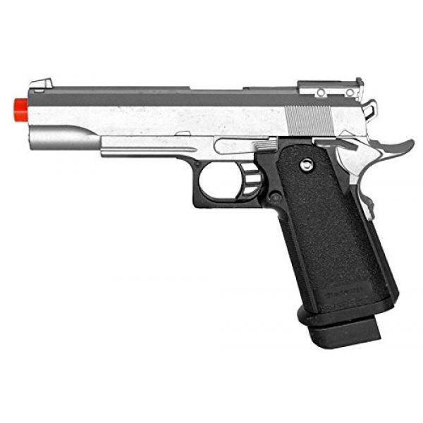 UKARMS Airsoft Pistol 1 G6 Airsoft Spring Pistol Colt 1911 Replica Metal Gun FPS M9 Silver
