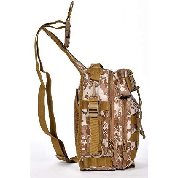Ornate Tactical Backpack 4 Ornate Tactical Sling Bag, 600D Bug Out Molle Backpack
