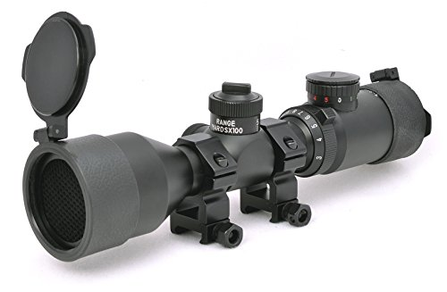 Hammers Rifle Scope 3 Hammers Compact Short Rifle Scope 3-9x42GDT w/Extended Eye Relief, Rings, ARD Anti-Reflection Filter, Flip Open Lens Caps