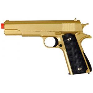 UKARMS Airsoft Pistol 1 M1911 Replica Full Metal Two Tone Gold & Black Airsoft Spring Pistol 6MM BB Gun