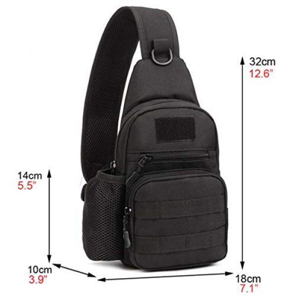 Hebetag Tactical Backpack 3 Hebetag Outdoor Sling Bag Hiking Backpack for Men Women Crossbody Shoulder Chest Day Pack for School Outdoor Travel Business Casual Work Office