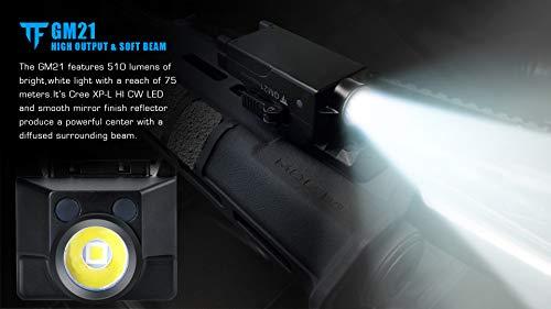 Acid Tactical Weapon Light 6 Pistol Flashlight Compact Handgun Tactical Flashlight 510 Lumens Rechargeable