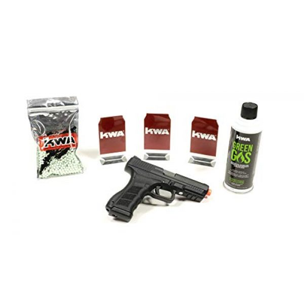 KWA Airsoft Pistol 1 KWA at-Home Self-Defense Training Kit ATP-LE with 1000rd BBS Complete Kit (3/6/12 Pack of Targets)