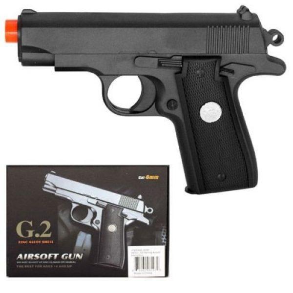 GALAXY Airsoft Pistol 2 GALAXY G2 Officer Metal Spring Compact Airsoft Pistol Hand Gun w/ 6mm BB BBS