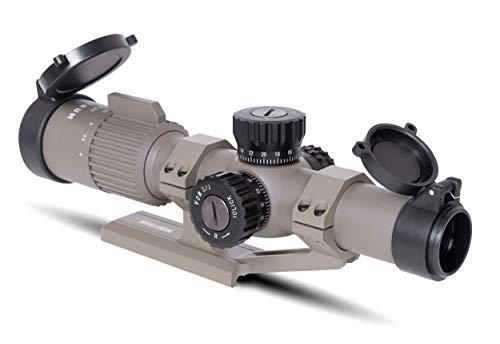 Monstrum Rifle Scope 3 Monstrum G3 1-4x24 First Focal Plane FFP Rifle Scope | ZR305 H-Series Offset Scope Mount | Flat Dark Earth | Bundle