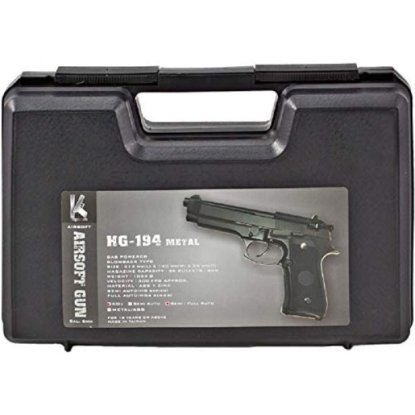 HFC Airsoft Pistol 4 HFC HG194 Army Special Force Airsoft CO2 Gas GBB Pistol Gun Full Metal with Case