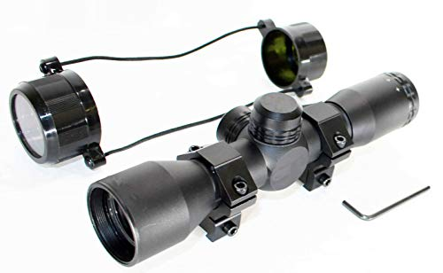 TRINITY Rifle Scope 7 TRINITY Scope for Gamo Recon G2 Whisper 4x32 Mil dot Reticle Dovetail Rail System Aluminum Black Hunting Rifle Optics Tactical Accessory.