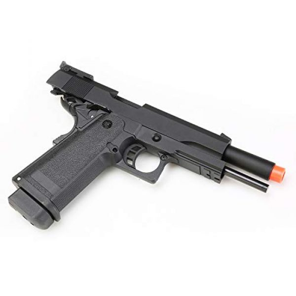 SRC Airsoft Pistol 7 HI-CAPA 5.1 Green Gas Airsoft Pistol Free Speed Loader BBS and Gun Case [Airsoft Blowback]