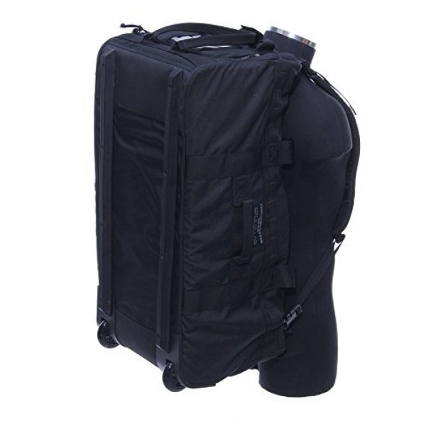 ForceProtector Gear Tactical Backpack 7 Collapsible Deployer Loadout Bag, Black