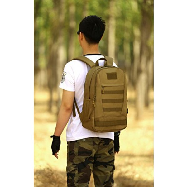 ArcEnCiel Tactical Backpack 7 ArcEnCiel Motorcycle Backpack Tactical Military Bag Army Assault Pack Rucksacks with Patch - Rain Cover Included