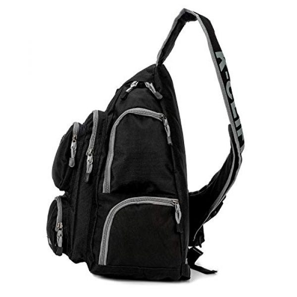 K-Cliffs Tactical Backpack 5 K-Cliffs Heavy Duty Sling Backpack Water-Resistant Laptop Bookbag Body Bag Bright Color Safety Reflective Stipe
