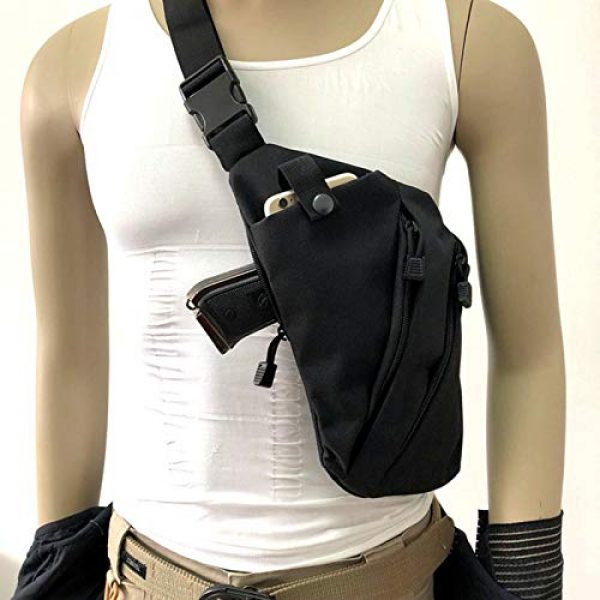 LIVIQILY Tactical Backpack 2 Men's Shoulder Bag Gun Case Single Bag Tactical Gun Bag Pistol Hand Soft Pistol Cases