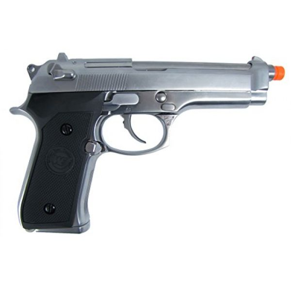 WE Airsoft Pistol 1 WE m92 gas/co2 blowback full metal - silver by we(Airsoft Gun)