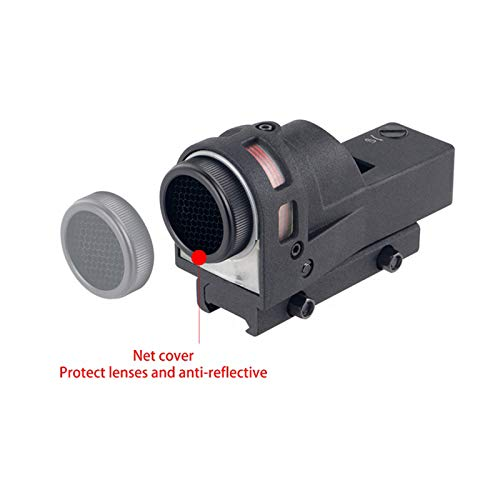 UELEGANS Rifle Scope 5 UELEGANS Red Dot Tactical Self-Illuminated Reflex Sight for Shooting Riflescope with Kill Flash Anti Reflection Device Protector for Hunting, Sport Shooting Airsoft