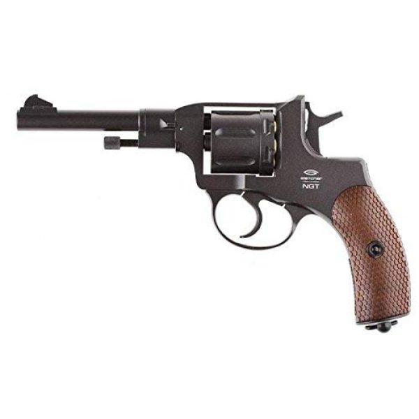 Nagant Air Pistol 1 Nagant Gletcher NGT F CO2 BB Revolver, Black air pistol