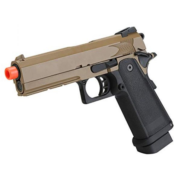 BULLDOG AIRSOFT Airsoft Pistol 6 Airsoft HI-CAPA 4.3 Desert Green Gas Pistol with Free Speed Loader BBS and Gun Case [Airsoft Blowback]