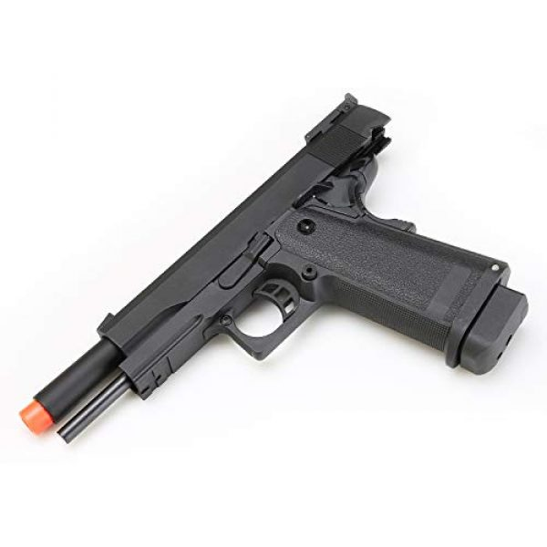 SRC Airsoft Pistol 6 HI-CAPA 5.1 Green Gas Airsoft Pistol Free Speed Loader BBS and Gun Case [Airsoft Blowback]